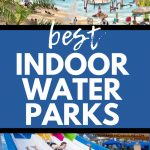indoor water parks graphic collage
