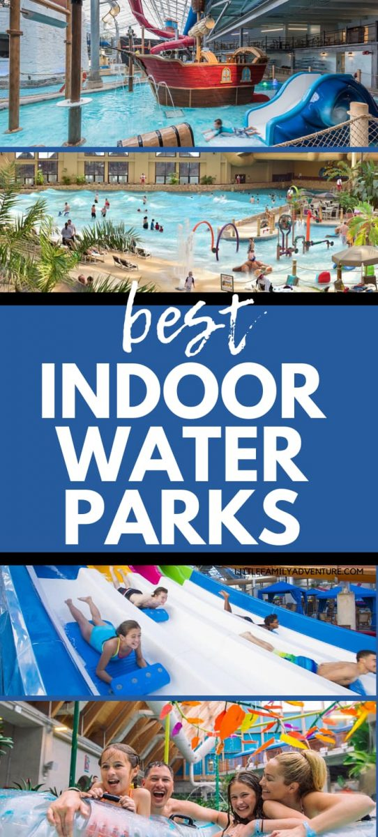 indoor water parks graphic collage