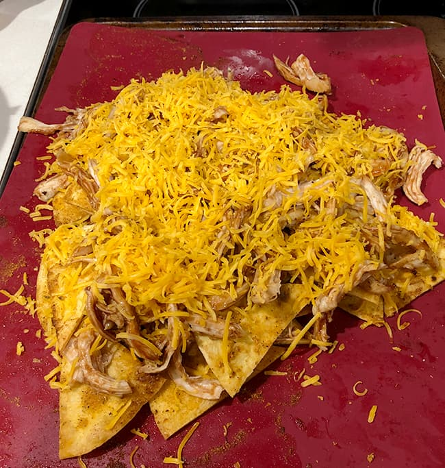 cheesy nachos