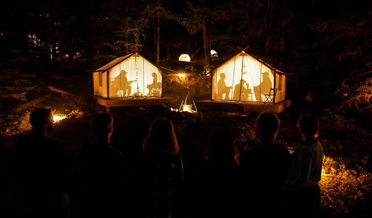 illuminated tents - Whistler BX