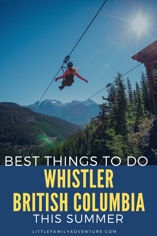 women zipling, Whistler BC