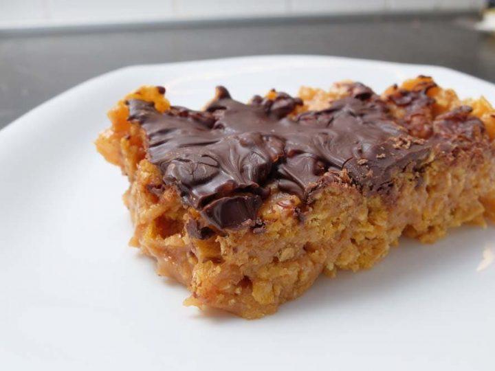 cornflake peanut butter bar