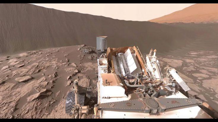 NASA's Mars Rover at Namib Dune (360 view)