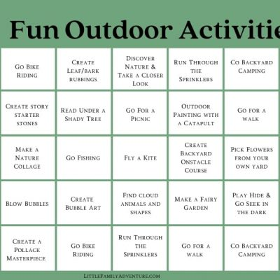 30 Simple & Fun Outdoor Activities for Kids