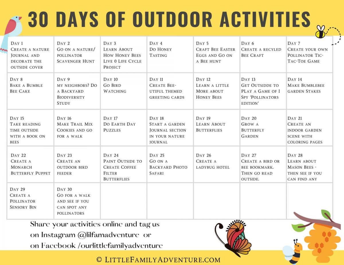 outdoor activities for kids printable