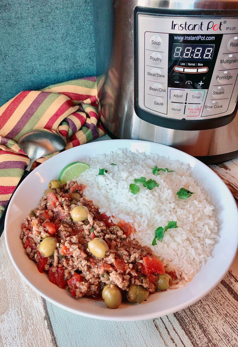 Ground Beef Picadillo made in pressure cooker