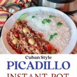 cuban style picadillo with rice