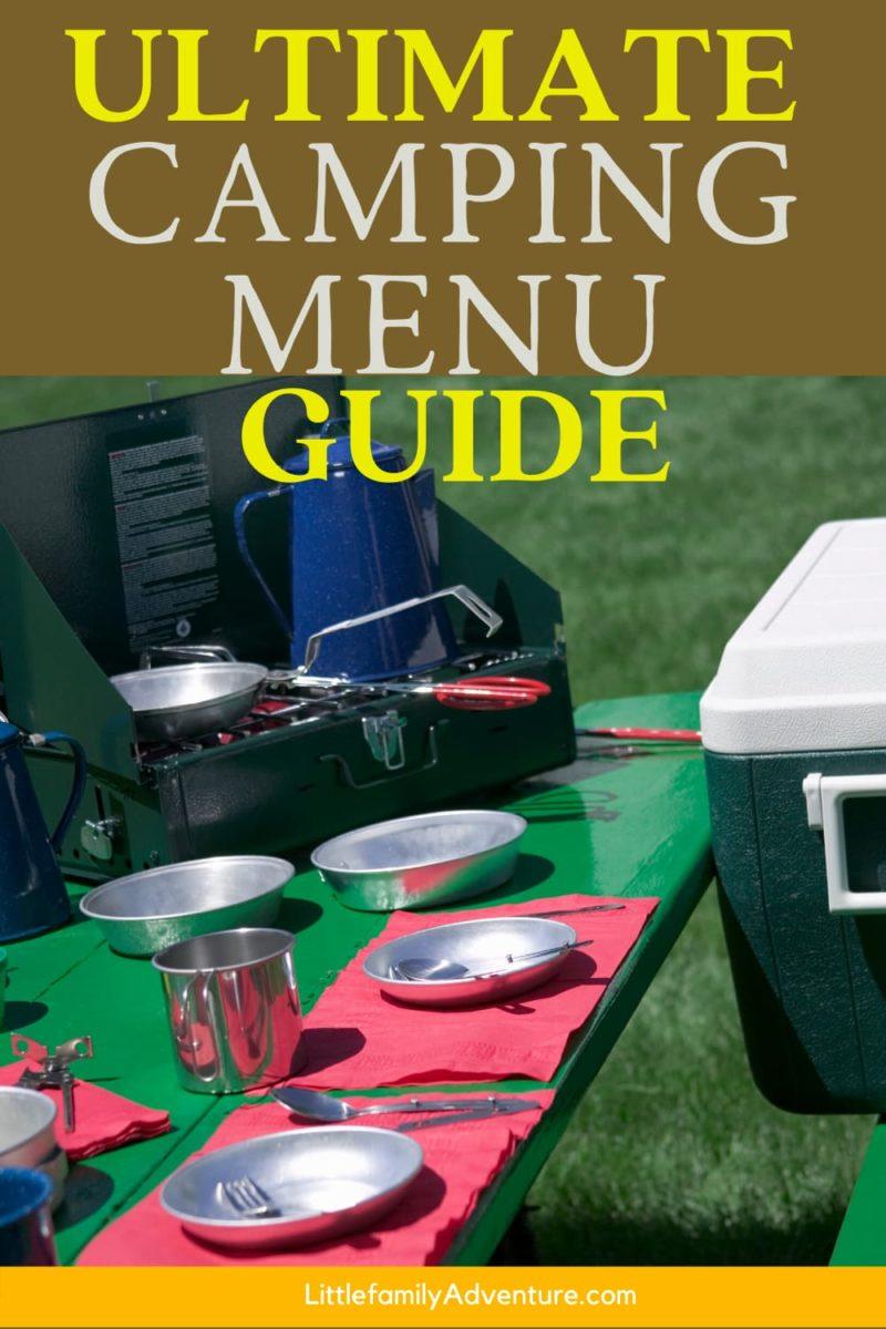 Camping Menu guide graphic