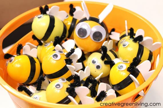 bees from easter eggs