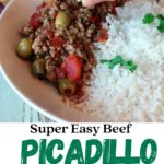 picadillo with lime and rice