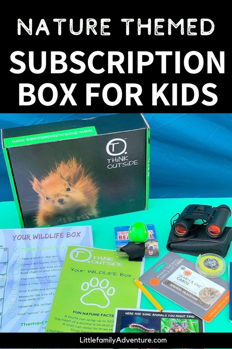 nature themed subscription sub box for kids graphic