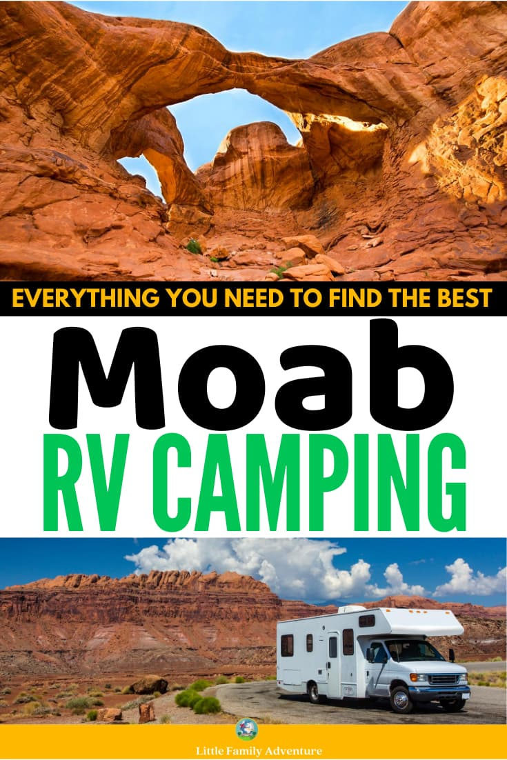 red rocks and rv - moab