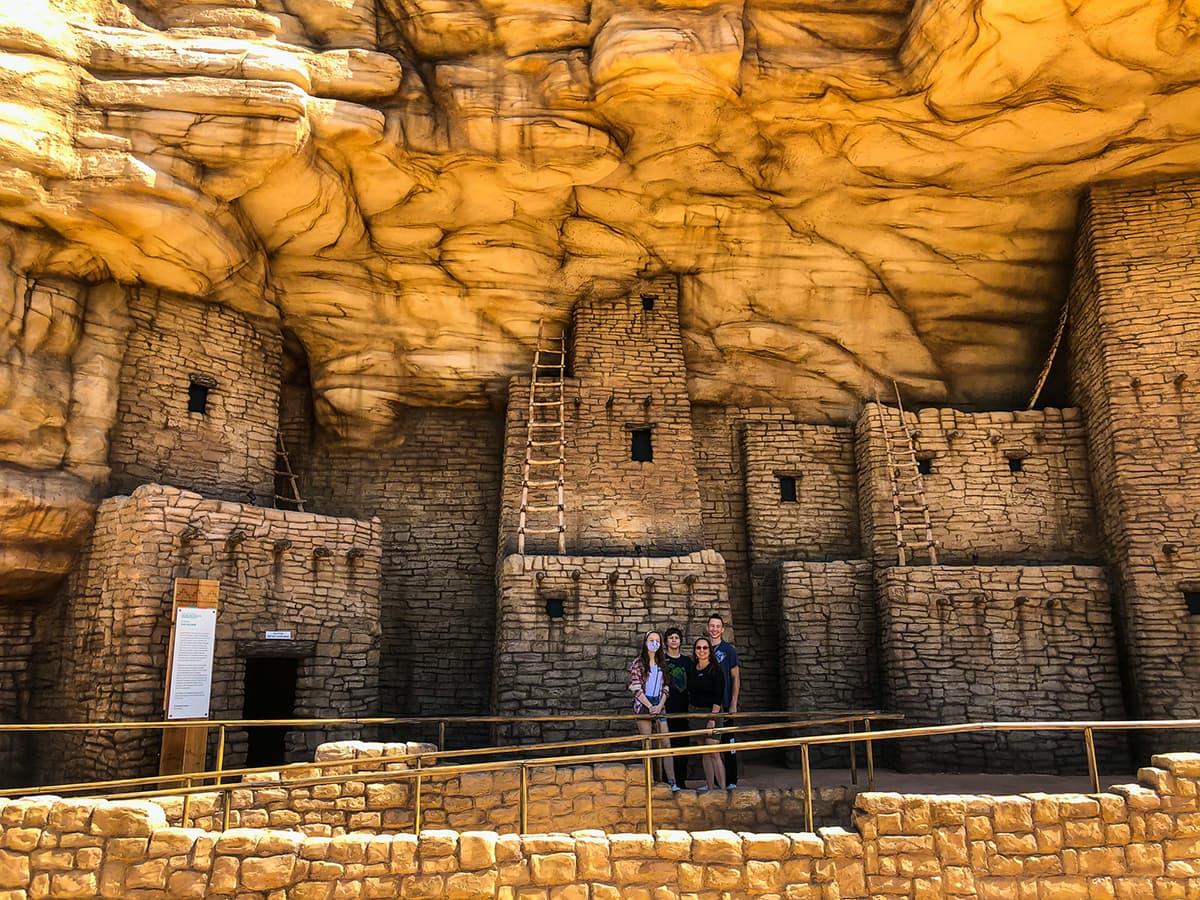 Puebloan dwelling replica