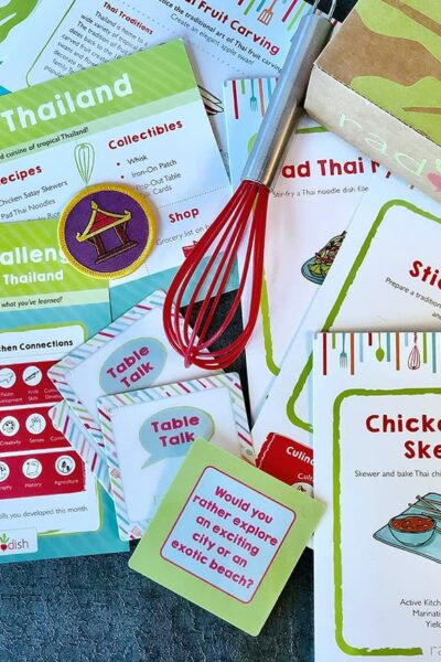 kit contents from Raddish Kids cooking club