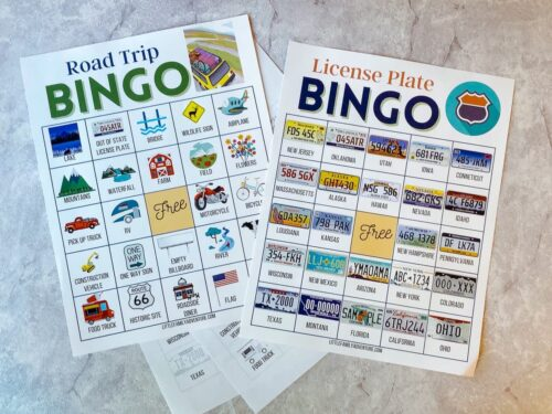 car bingo cards printable