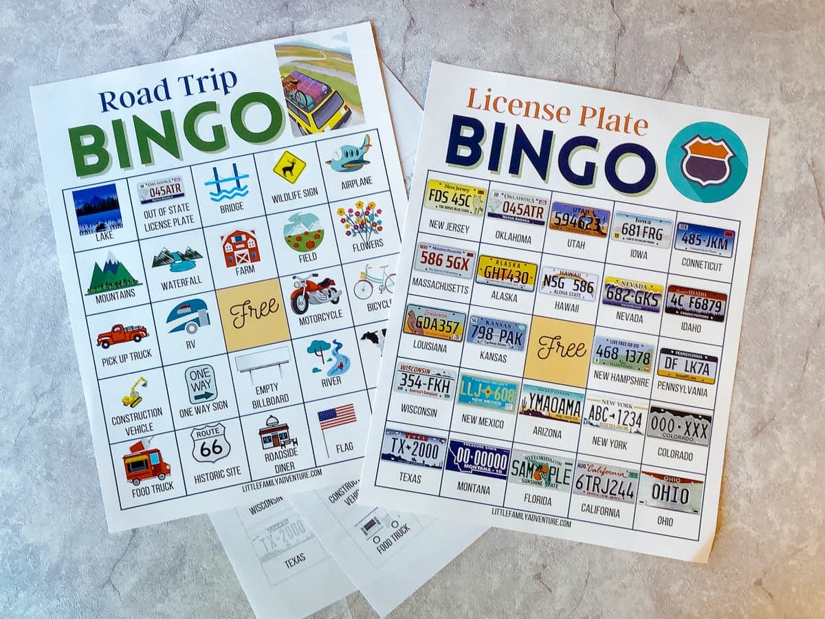 Before Your Next Road Trip, Download These FREE Car Bingo Printable Cards