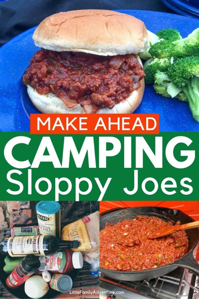 make ahead sloppy joes on campstove