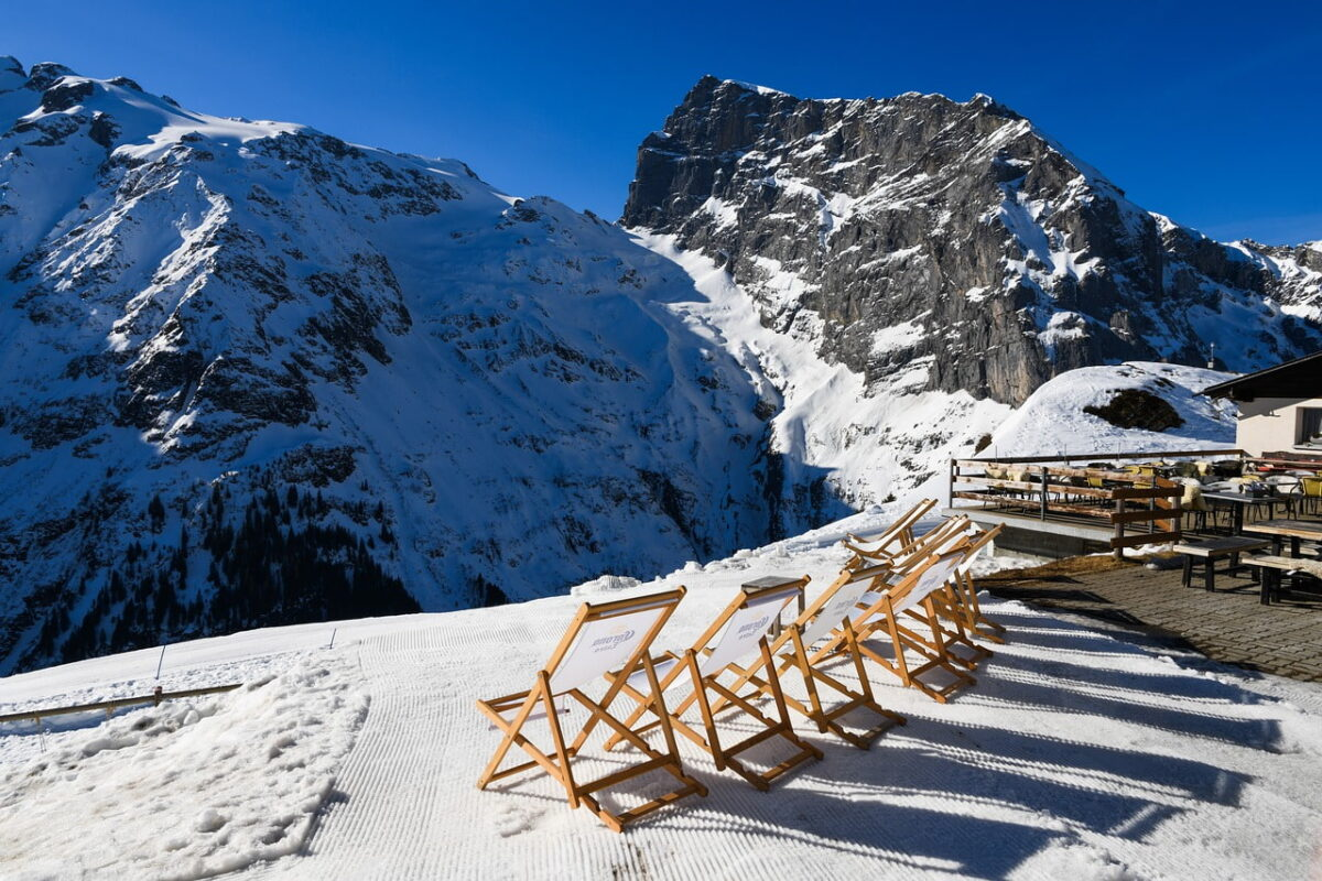 engelberg titlis mountain -snow and chair set out