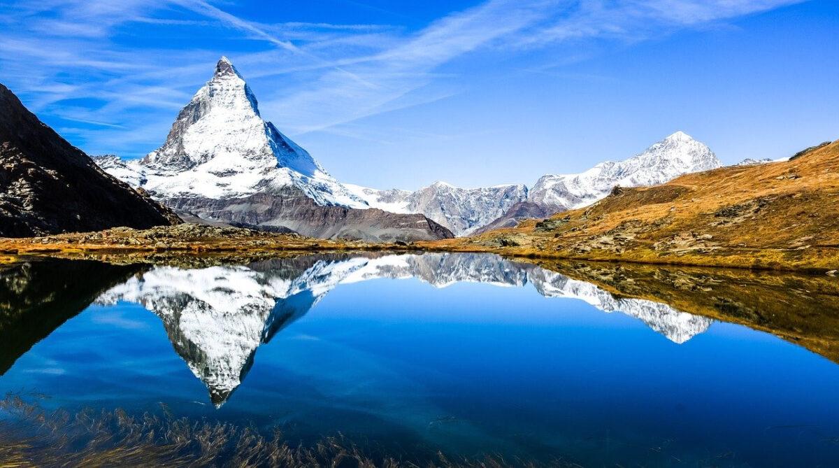 Matterhorn behind lake