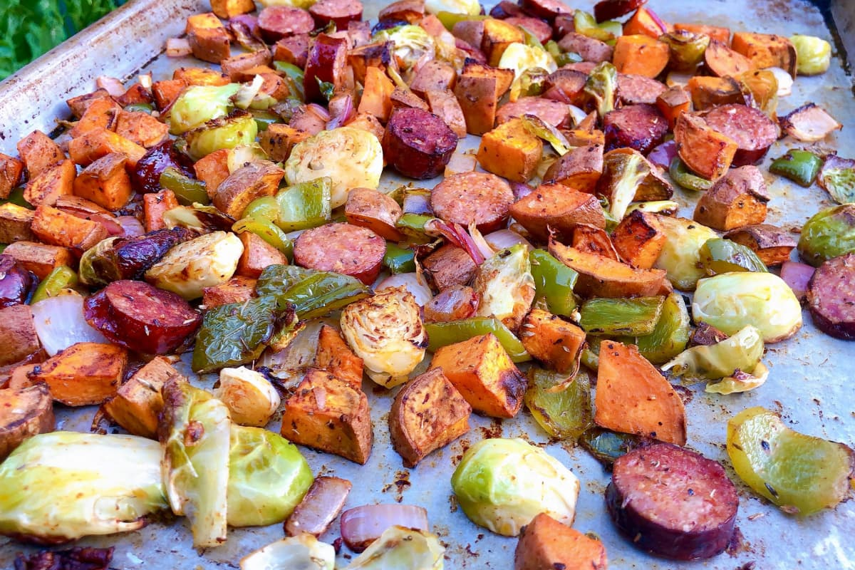 Easy Andouille Sausage and Vegetables – Recipe for Sheet Pan or Foil Packs