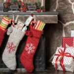 stockings hung on fireplace