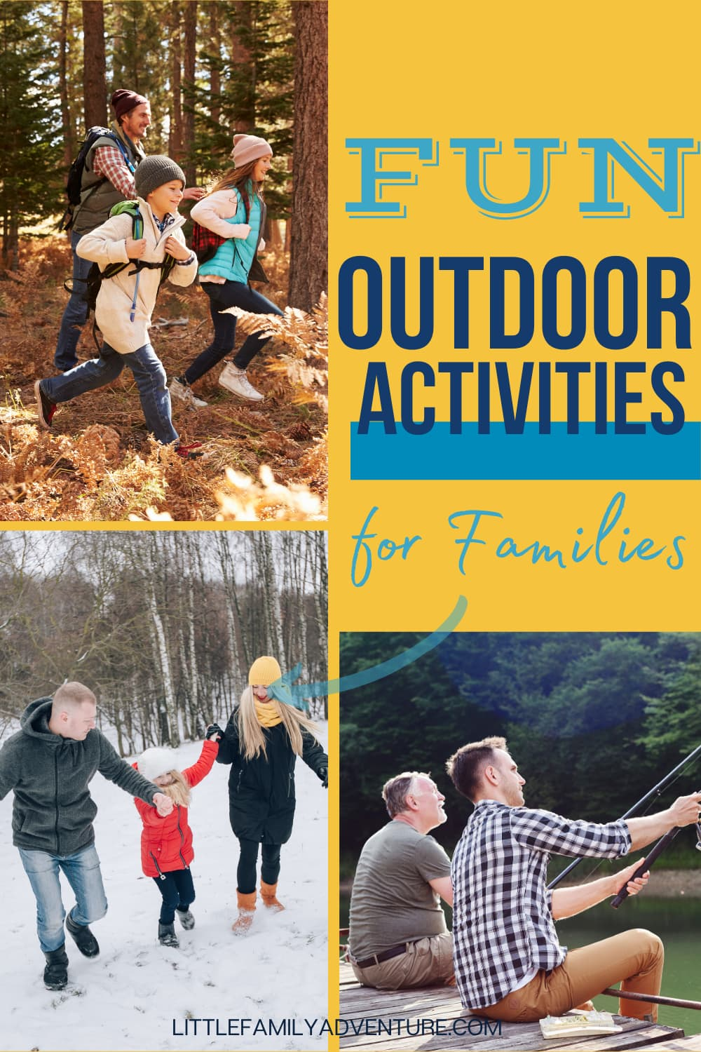 families outdoors together
