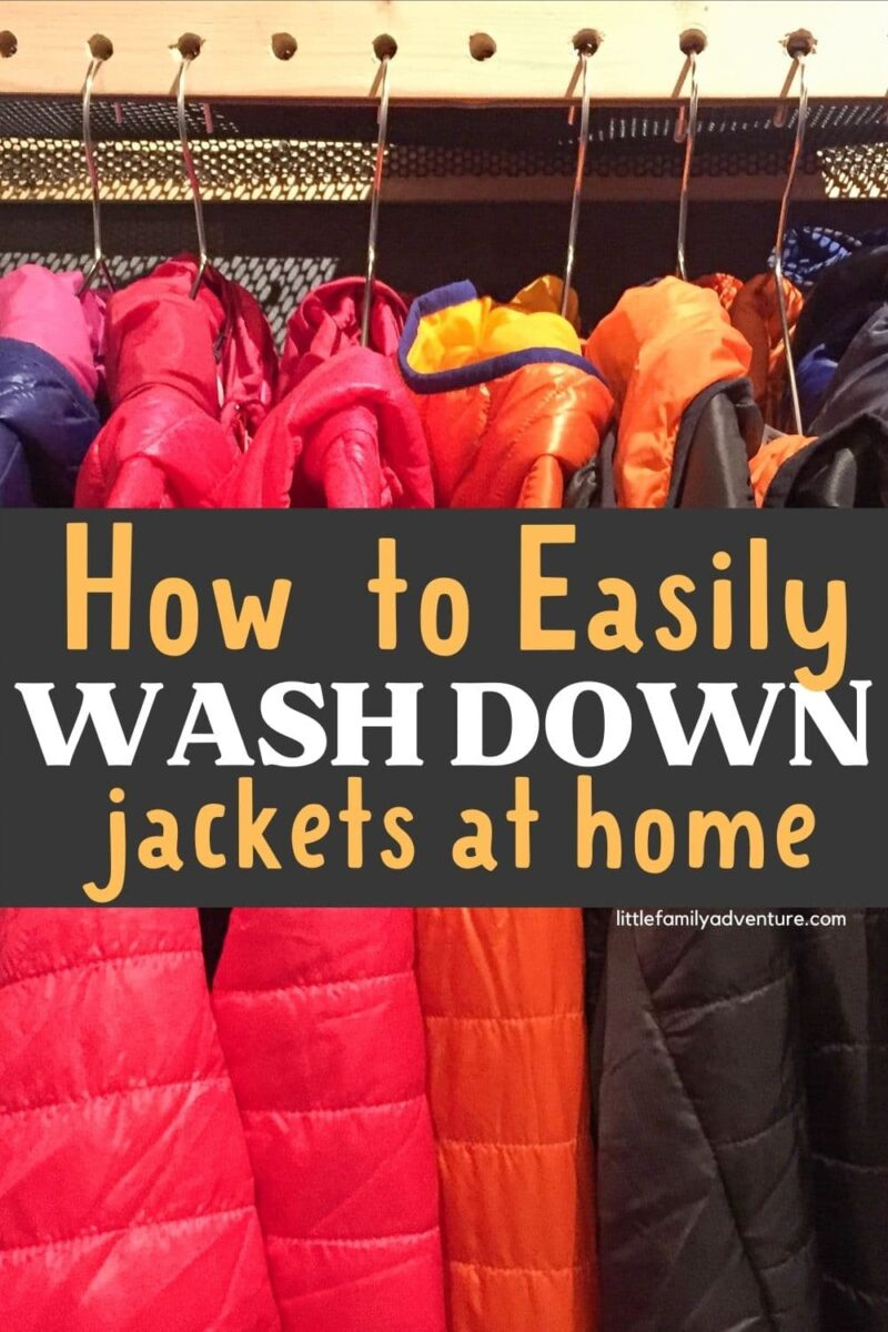 down jackets in rack