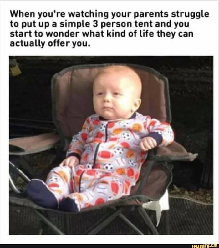 baby in outdoor chair