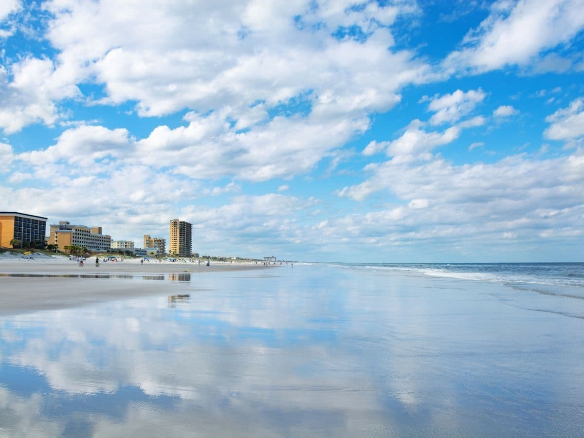 beachline, ocean, sand, hotels