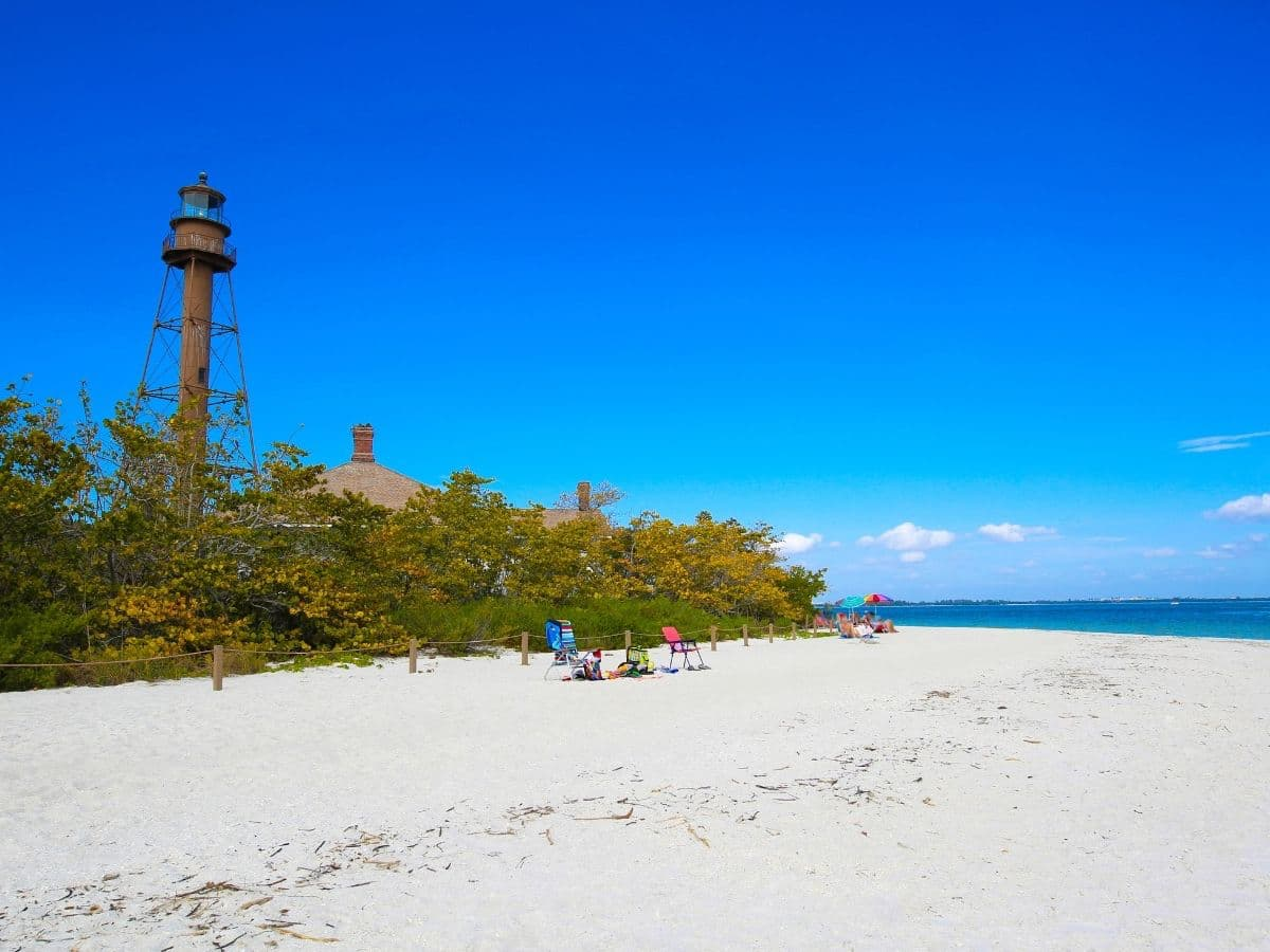 Sanibel beach lighthouse