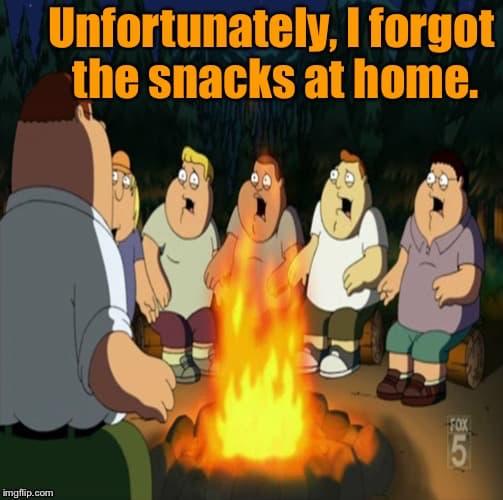 Family Guy camping meme