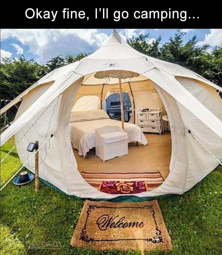 canvas glaping tent set i[