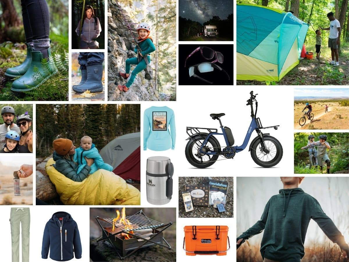 collage of outdoor gear images