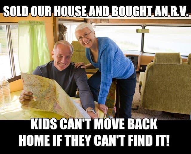 elderly couple in rv