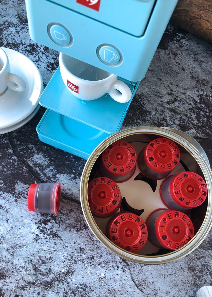 Espresso machine with cip, espresso pods