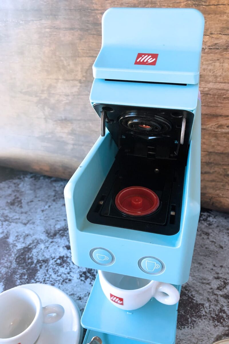 coffee capsule in coffe machine