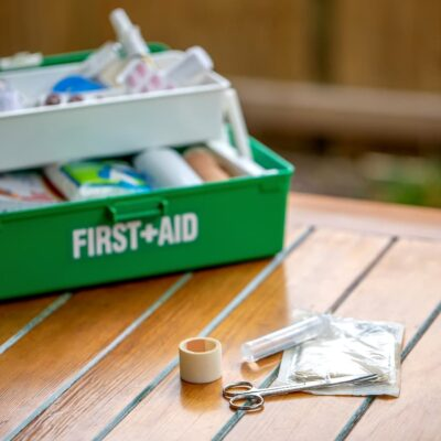 DIT First aid kit in tackle box