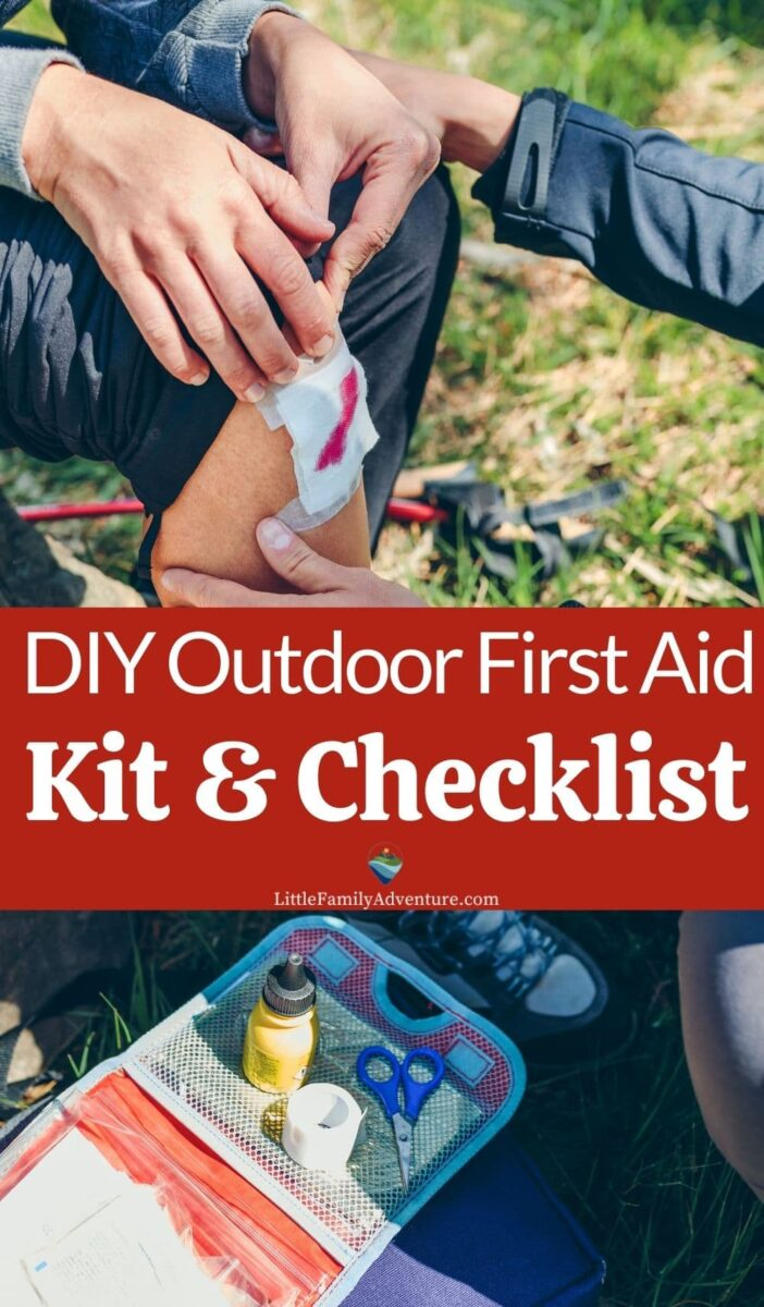 first aid kit outdoors