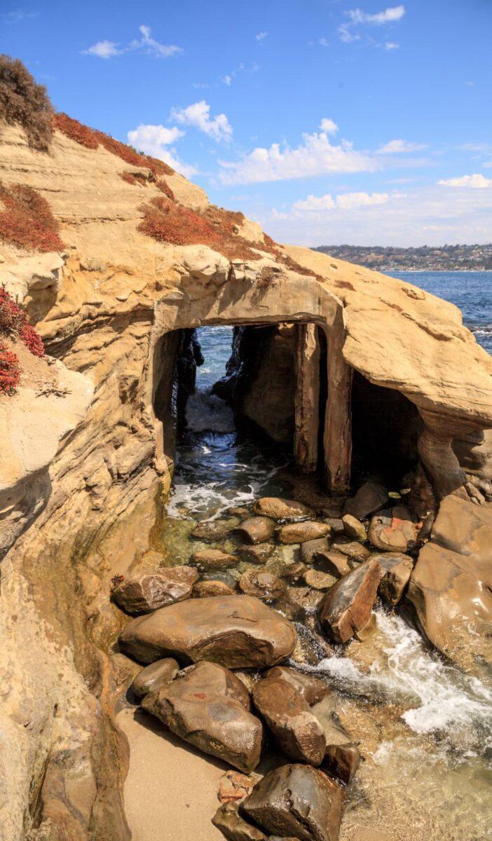 sea cave in La Jolla