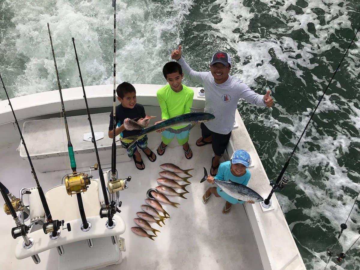 family deep sea fishing