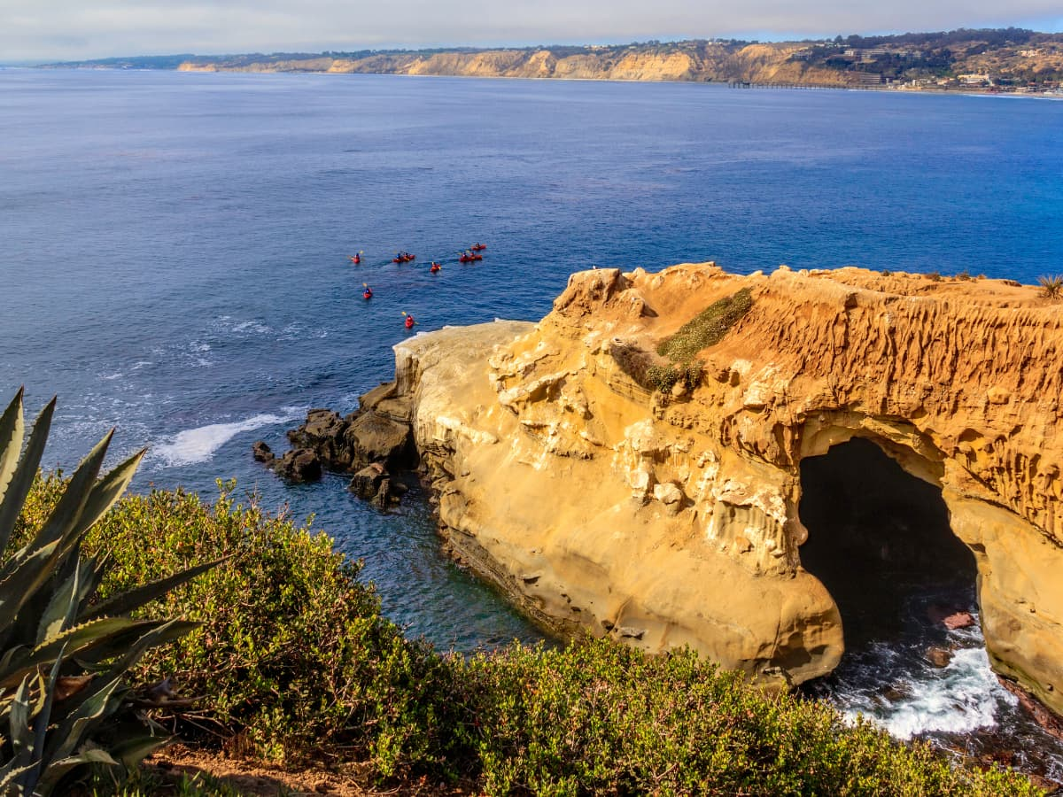 La Jolla sea caves view from Goldfish Point
