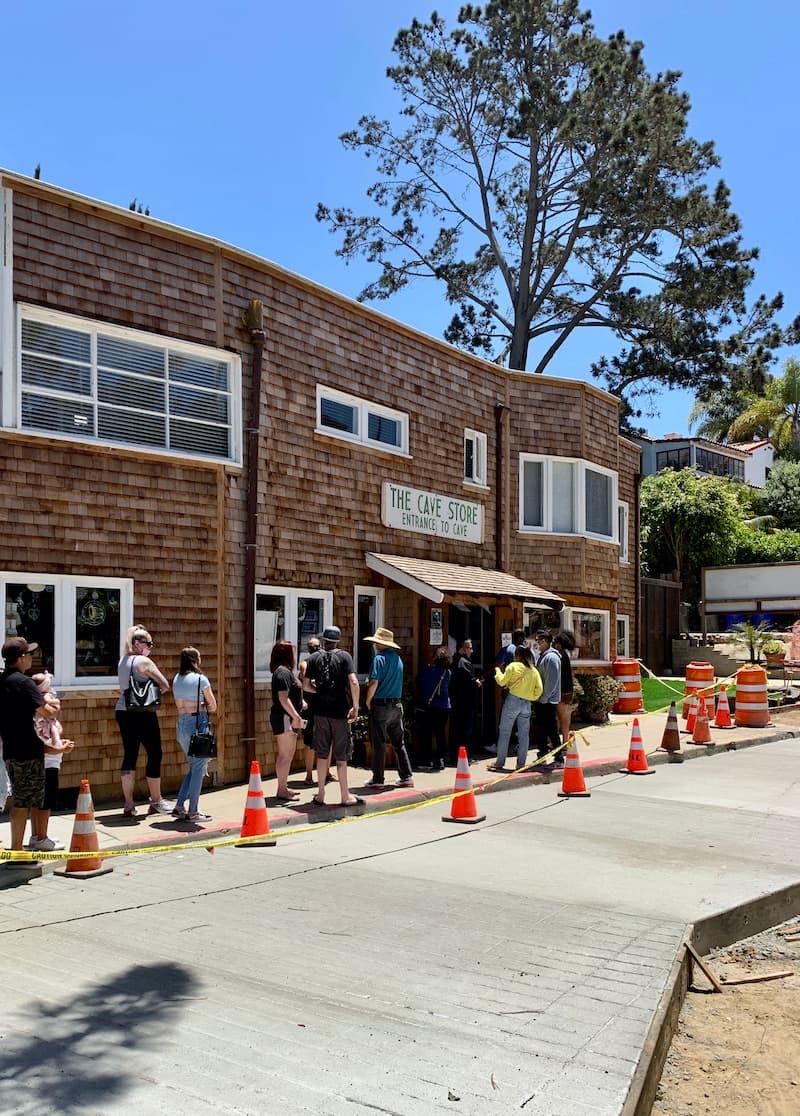 Cave Store La Jolla, California entrance queue