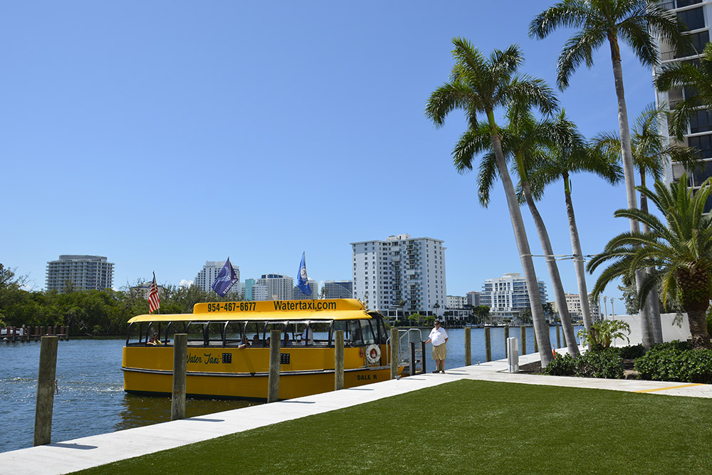 docked water taxi