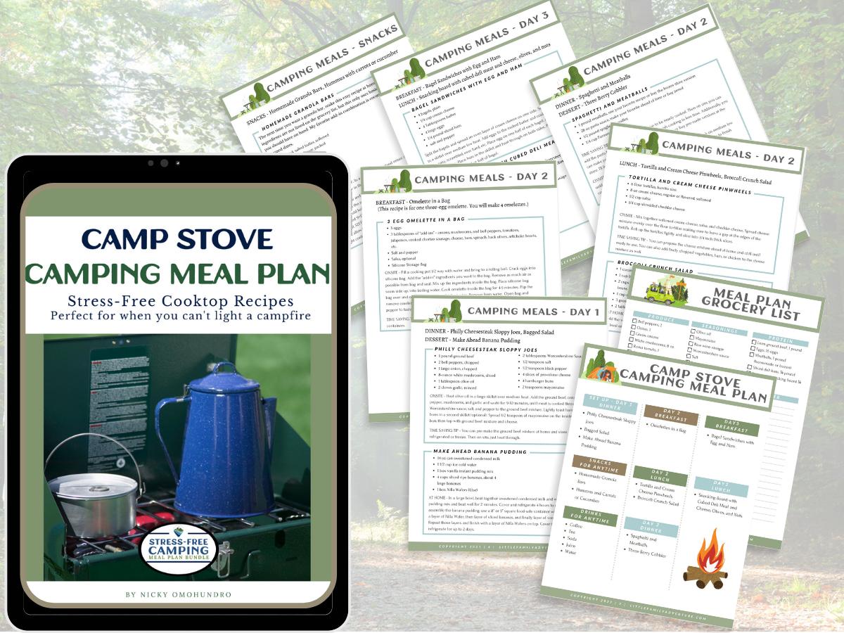 camp stove meal plan