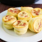 egg bites with bacon on plate