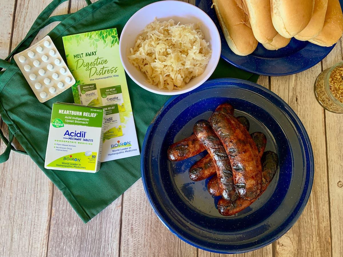 brats, sauerkraut, and Boiron products