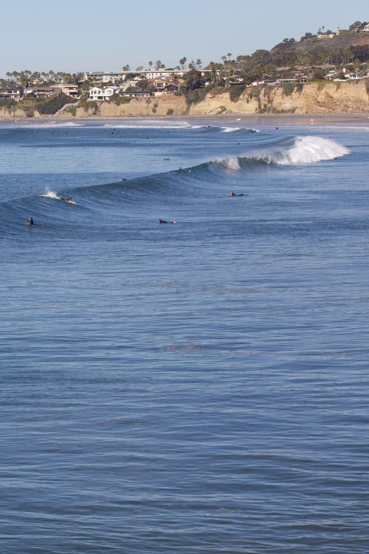 surfers off Pacific Beach San Diego