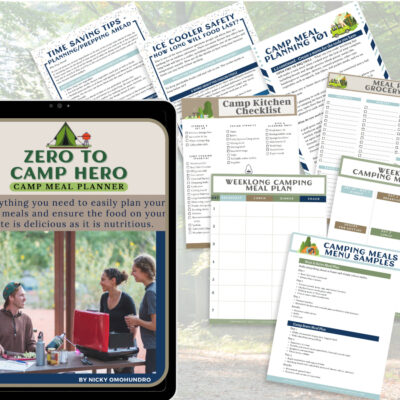 Zero to Camp Hero: Camp Meal Planner Kit