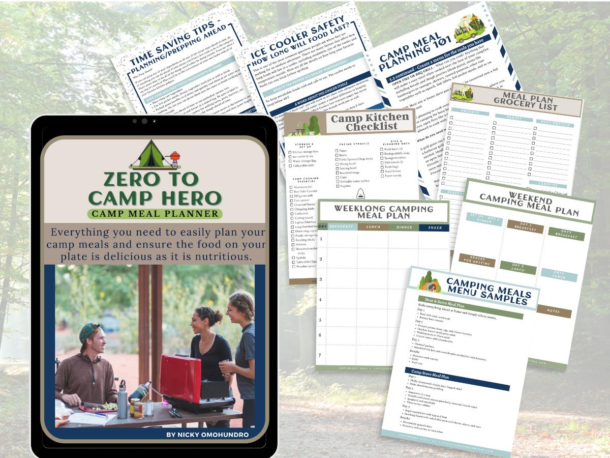 camp meal planner kit