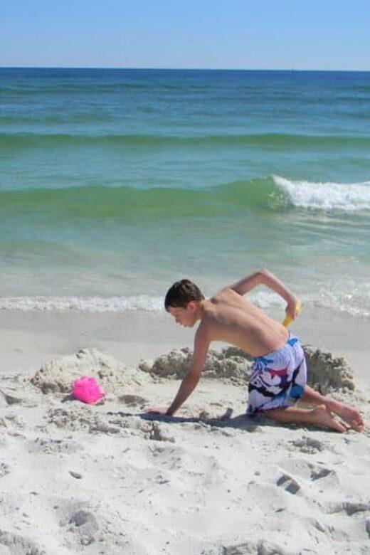 Cotton Bayou - kids playing on beach-2